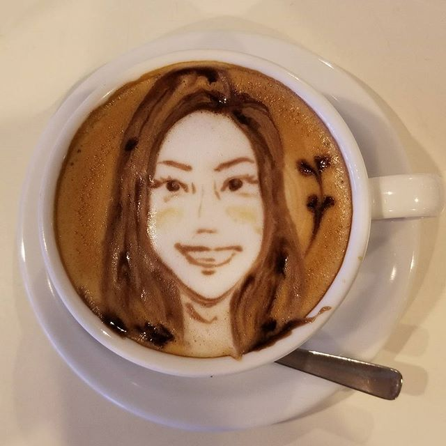 This is me as latte art.. apparently I am a white girl.♀️  My dreams do come true. Ha! Reminds me of one of the chicks on the Initial D series.  #pandasadventures