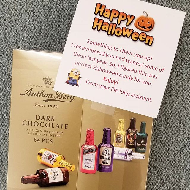 A great surprise to end the month. Now I am really going to need to go to the dentist and have my liver checked. Is this how adults do Halloween trick or treating? Thanks @mikegotee1