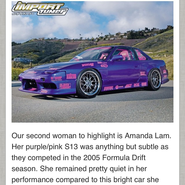 Reading this article by Joey Redmond makes me want to get back into drifting. This article made my day so kudos! #internationalwomensday #timetogodrifting #drifting