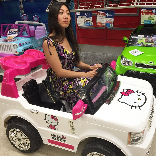 Just rollin in my #hellokitty #car