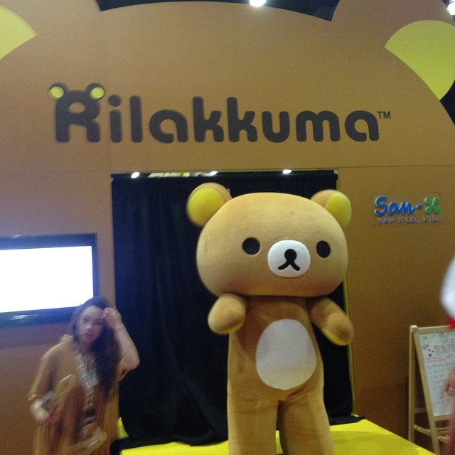 #rilakkuma is the most covered up character at Anime Expo. I thought I walked into an underaged adult con!