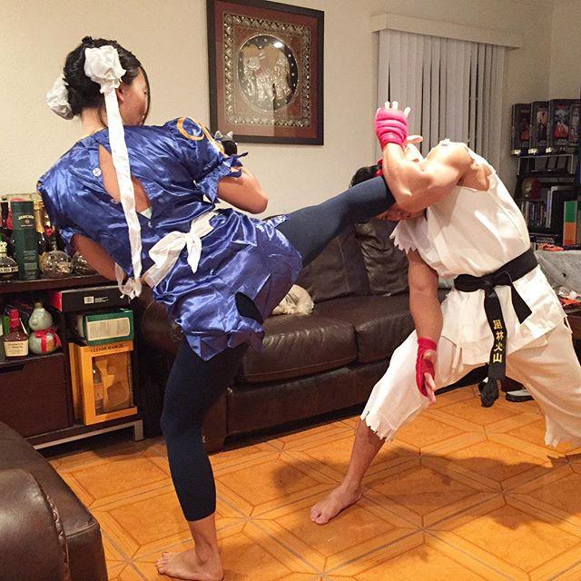 Ryu ain't got nothing on #chunli #thuglife ... Haha
