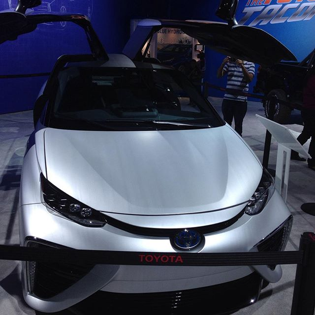 In the future but I see back to the future! #toyotalaautoshow #letsgoplaces