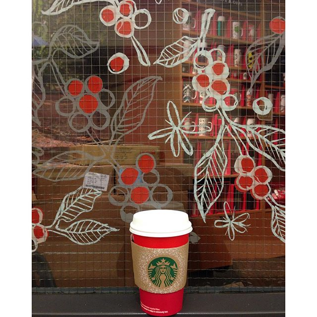 Really love ️ the winter #starbucks designs!!