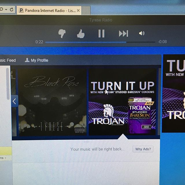 So I was jamming to #Pandora at work and this advertisement showed up. REALLY?