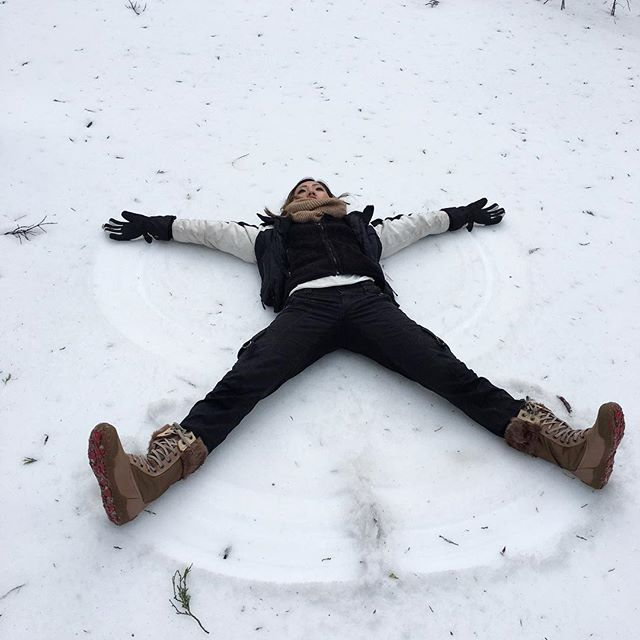 I could only make a snow angel🏽 because I wasn't feeling the devil Angel vibe today.