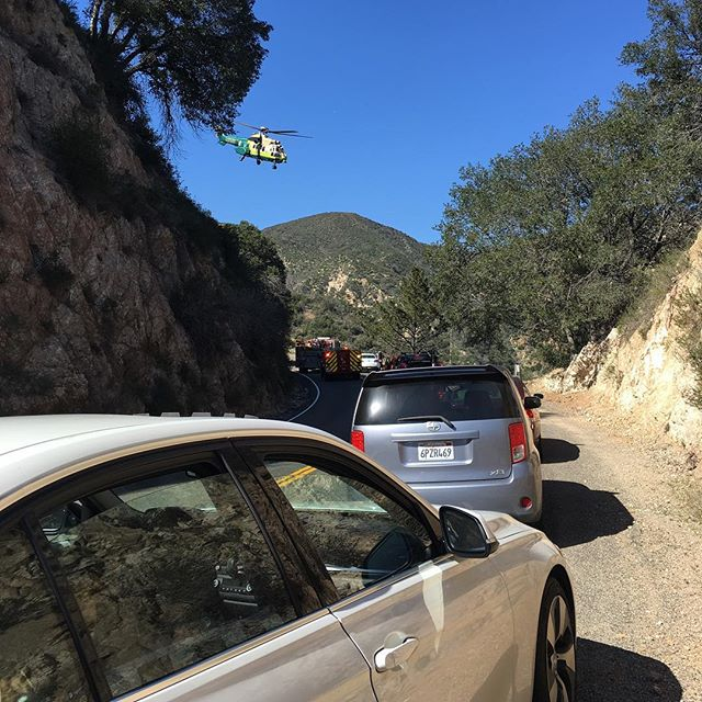Wow, the things we endure for our #hiking treks! Hope that injured person is OK!