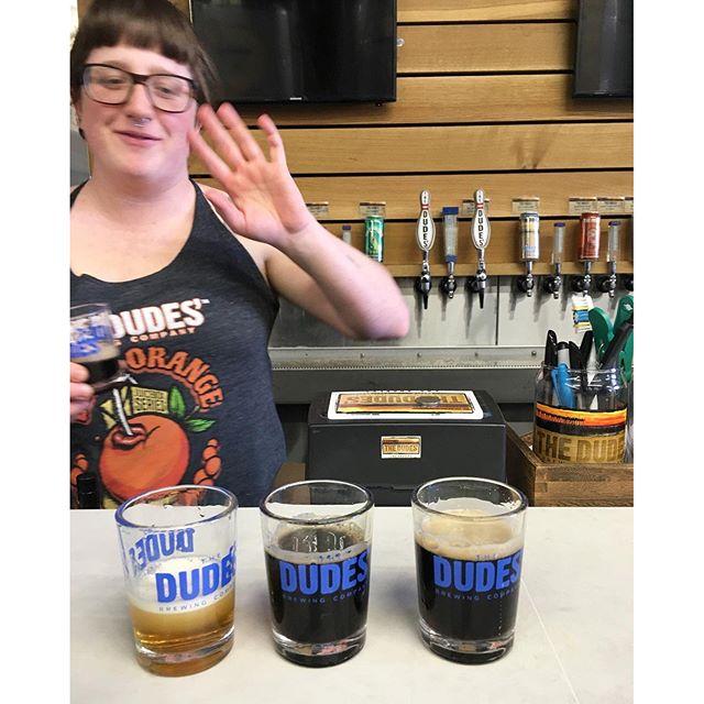 Dude dude dude,thx Juli & Zenia! #bartenders #dudesbrewery
