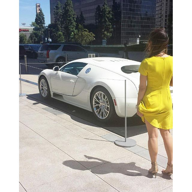 I am looking at 1.3 million... More than my lifetime net worth. So pretty! I even touched it so now I can say I touched 1.3m!! 1milly #buggati