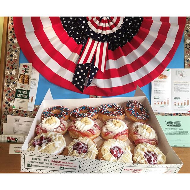 Celebrating #memorialday early with #donuts ., Damn I am skinny FAT!!  //Cherry Pie // Strawberry Shortcake // Chocolate Sprinkles //