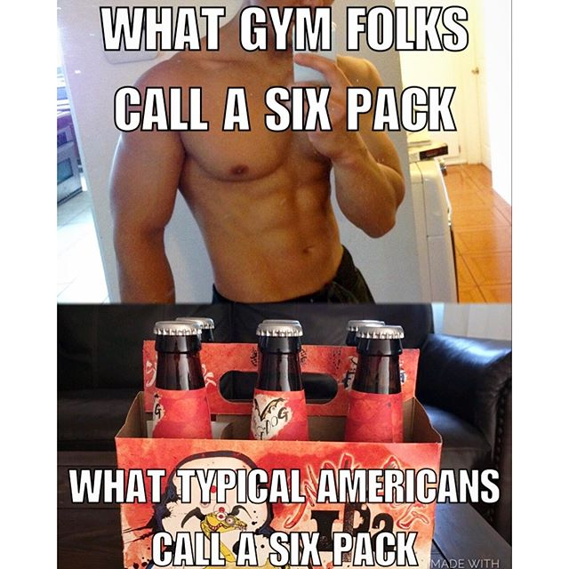LMAO... Six packs attack!! spare time. #gymrats #sixpack Beer vs. Gym #fitness