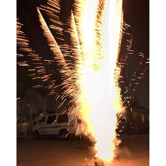 When you're friends bring #fireworks as your #birthday #gift = awesome fun times !!