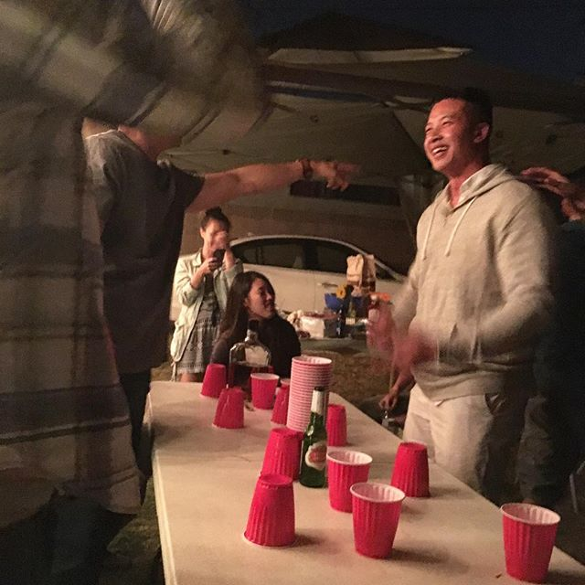 I realized that beer pong does not highlight my strengths!