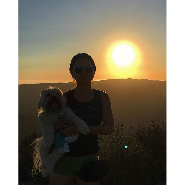 We hike into the sunset together!