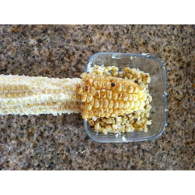 When the corn you're about to enjoy looks very interesting...  I swear I am not a perv but wth?!