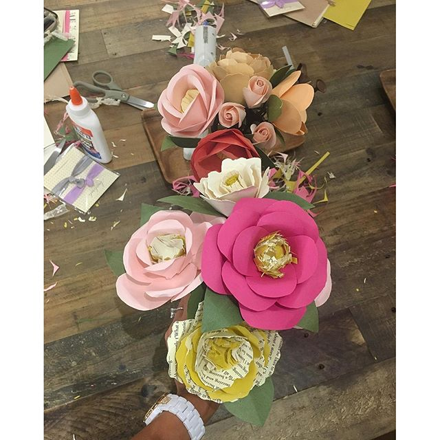 Can you tell which flowers we made versus the professional made ones?  #handmade #diy #pandasadventures