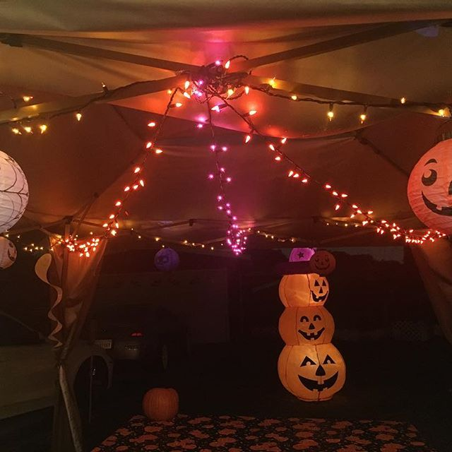 I love how cute the Halloween lights came out! Thanks for loaning us these awesome lights and pumpkin blowup @mikegotee1 .. Good job putting everything together @swayray