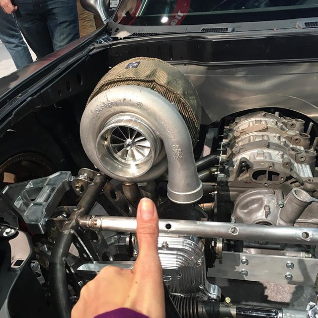 This turbo is bigger than my head.. And my head is real big. Btw, nice RX7!