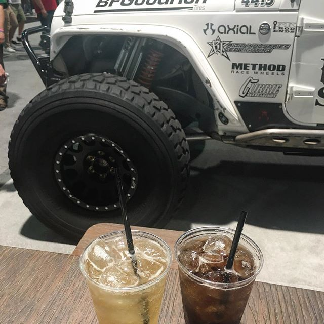 Stopped by the TransAmerica booth for some free booze and to check out this dope JEEP!