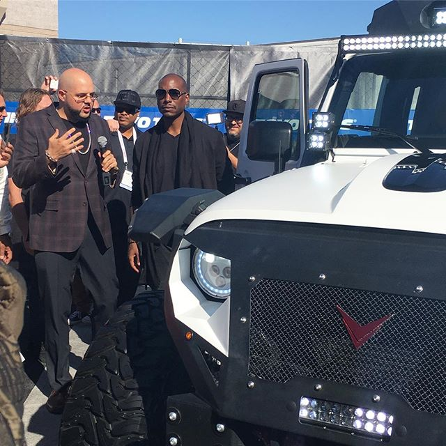 Why so serious Tyrese? If I was doing the interview best believe he would be laughing and smiling! 😀 #pandasadventures #sema