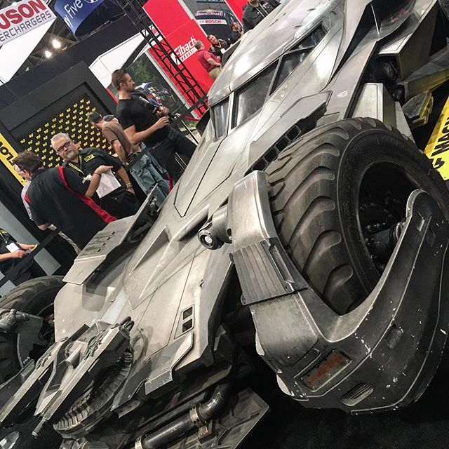 I found the bat mobile, BUT lost Batman?!? #sema #cars #pandasadventures 🏎