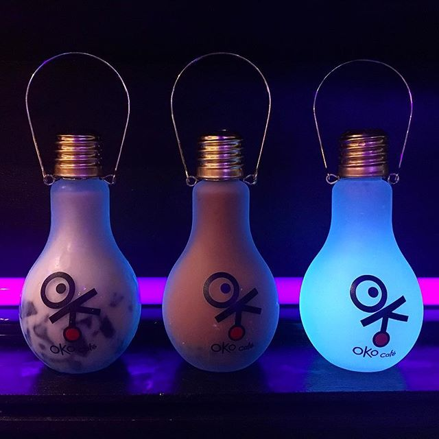 Total #foodie weekend! Last stop for the night at Oko Cafe for these glow in the dark bulb drinks! I feel so fat from eating so bad and not working out. I blame the cold weather for making me lazy!  #pandasadventures