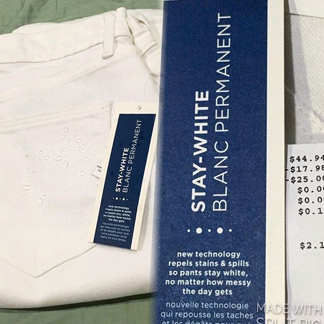 Super duper ecstatic to test out this pair of #oldnavy stay white stain and spill repellant pants. 🤓 //Weekend #ratchet party pants// #pandasadventures //Only paid $2.14 after promo codes and rewards certificate.. Ultimate Chinese.. Making my parents proud// 🤑🏻
