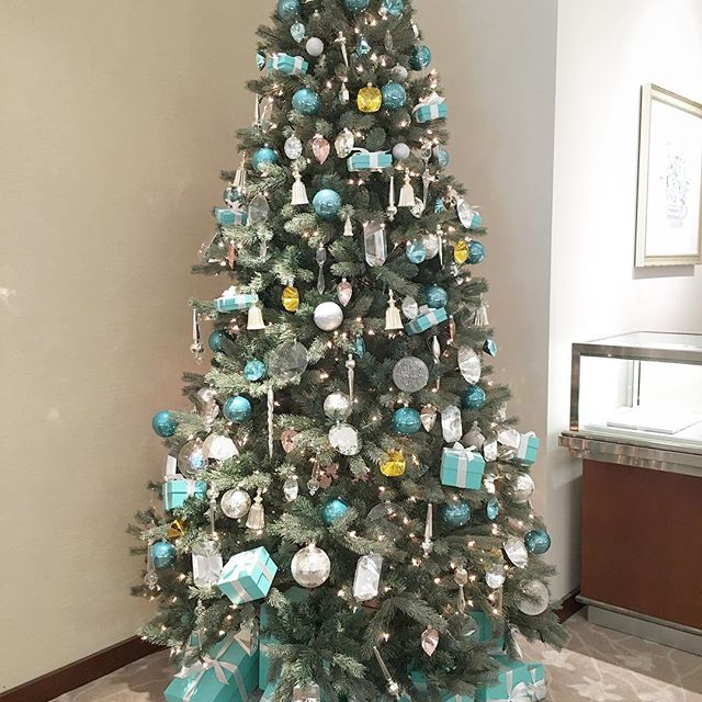 //I love teal and this Christmas tree is so fitting for me.. Yeah I would wear this tree// 📿 #pandasadventures