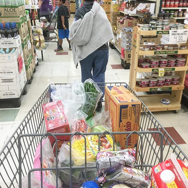 I promised my mom I would take her grocery shopping so here we are. I remember why I was lagging.. $150 later no booze either!  #pandasadventures #mommysgirl