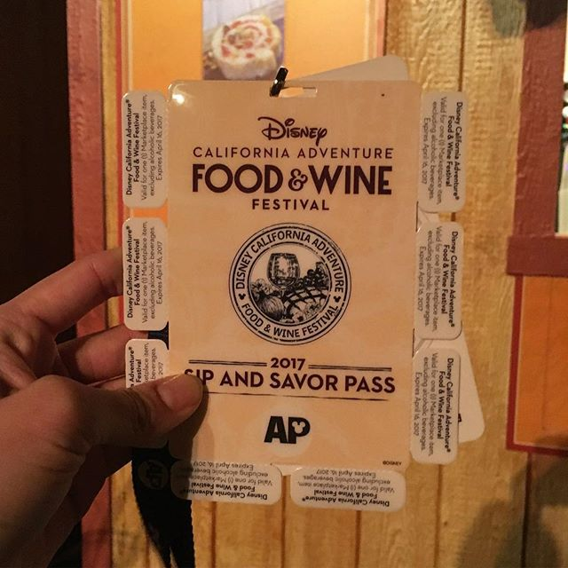 Wish we would have known about this $45 Disneyland Cali Adventure 8 voucher ticket food deal plus free AP buttons deal earlier.. We are 5 items and had 3 adult beverages prior. Ughhh! I guess better late than never... Now we are stuffed! #pandasadventures