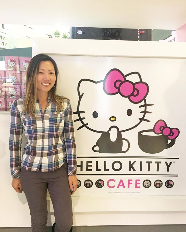 I felt like dressing like a white person today and yes there was a sale on makeup. #hellokitty #pandasadventures //So fob.. Damn Asians//