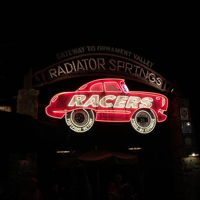 First time riding on radiator springs since getting our annual passes! Yipeeeee!  #pandasadventures
