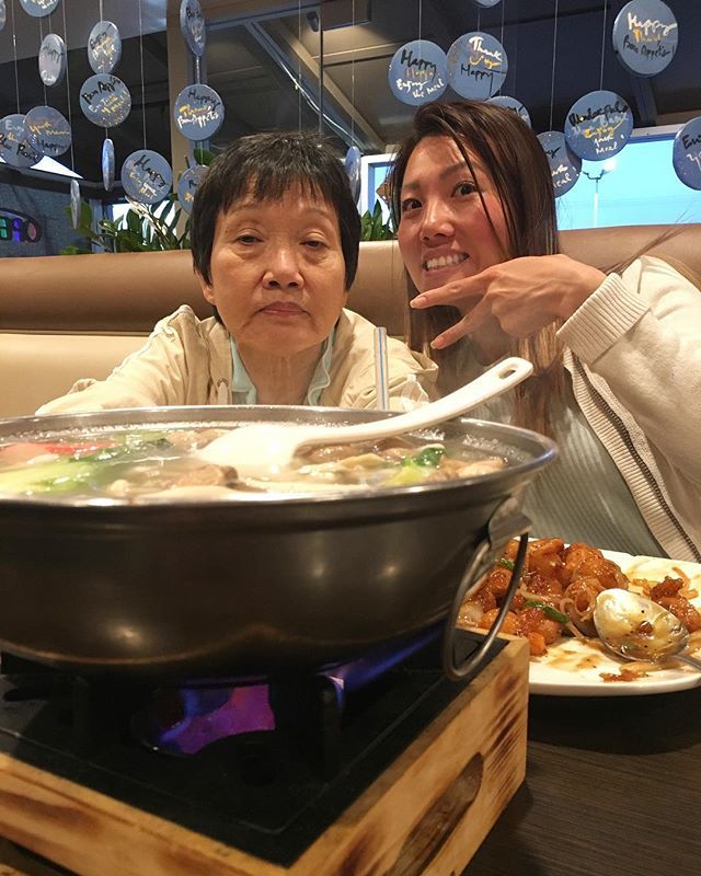 I am blessed to have this crazy at times annoying human being in my life. I love you dearly lady even when you drive me cray cray. Glad to have you now remember to take your Ned's to avoid torturing me. Happy Mothers Day lady! She has her chinky eyes on the food. #pandasadventures