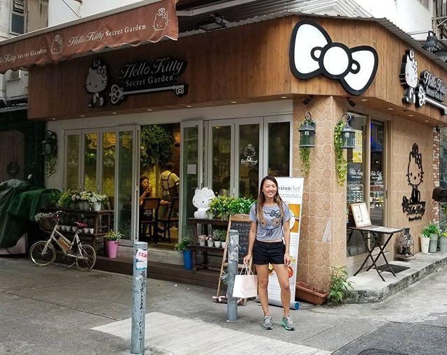 #hellokitty Secret Cafe off my #hongkong bucket list! #pandasadventures